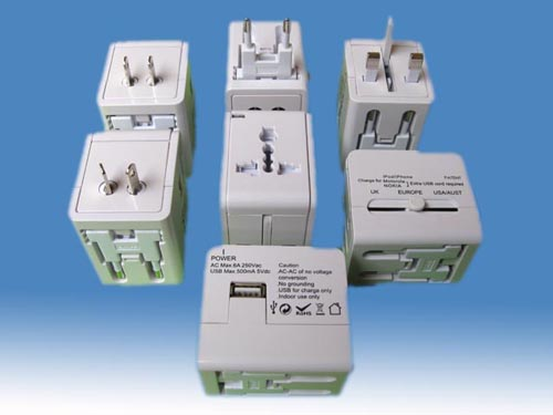 World Travel Adapter With USB<br>Charger (SE-MT006)