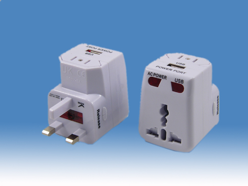 World Travel Adapter With USB<br>Charger (SE-MT81)
