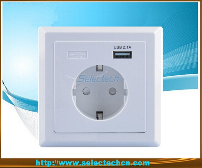 Germany Socket 80 type USB Wall plate Charger USB-20
